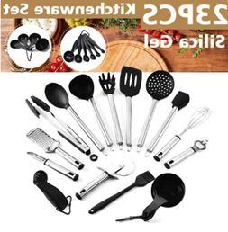 23pcs kitchen utensil set stainless steel non