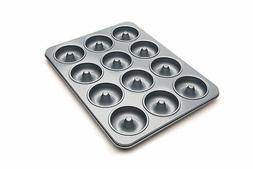 Fox Run 4496 Non-Stick Mini Donut Pan, 12-Cavity