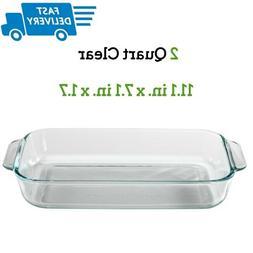 Pyrex Basics Glass Oblong Baking Dish, Clear 7 x 11 inch, 11