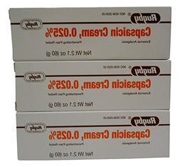 Rugby Capsaicin 0.025% Generic for Zostrix Cream 2.1 oz.  Pa