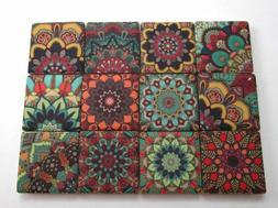 Ceramic Mosaic Tiles - 12 Piece Mixed Set - Decorative Moroc