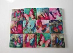 Ceramic Mosaic Tiles - 12 Piece Mixed Set - Mixed Butterfly