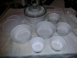 corning ware 13 pc french white bakeware