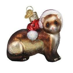 Old World Christmas Ferret Glass Ornament FREE BOX 12551 New