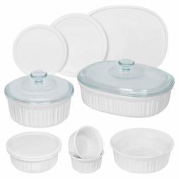 CorningWare French White Round and Oval Bakeware Set