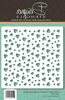 Heart Miniprint Cookie and Craft Stencil by Designer Stencil