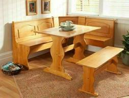 Kitchen Nook Solid Wood Corner Dining Breakfast Set Table Be