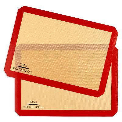 2 non stick silicone baking mats tray