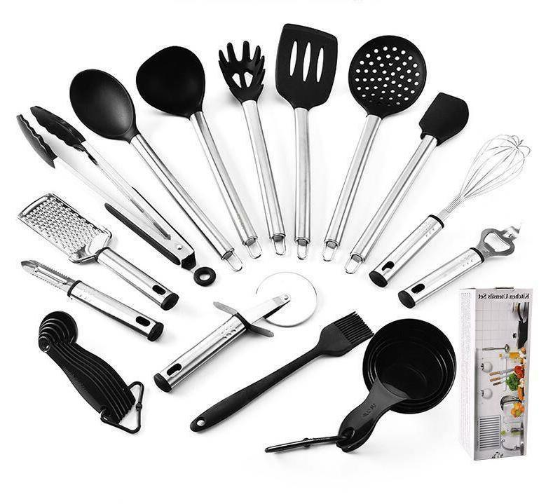23Pcs Stainless Cooking Bakeware Cookware US