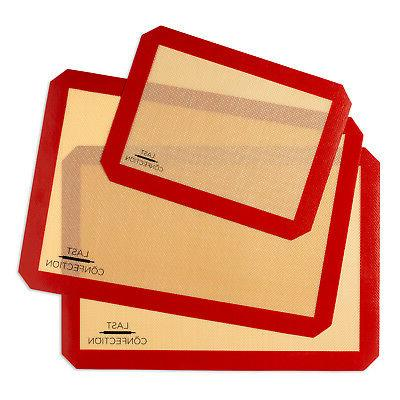 3 non stick silicone baking mats 1x