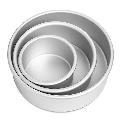 "3-Piece Set 4"", 6"" and Aluminum Pans 2"""