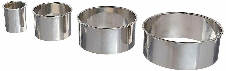 4 pc stainless steel 1440 plain edge