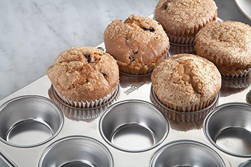 Fox Muffin Pan, 12 Cup, Stainless Steel
