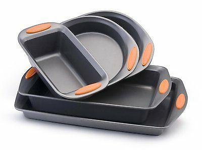 Rachael Ray Oven Lovin' Non-Stick 5-Piece Bakeware Set, Oran