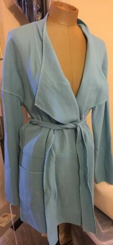 Carlisle Blue Long Cardigan Sz 12 New Retail $695.00 , 100%