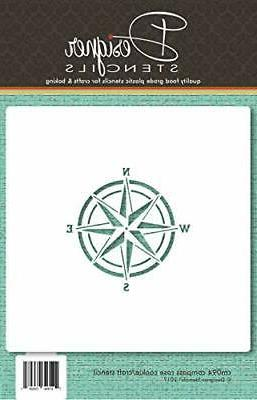 compass rose cookie and craft stencil cm094