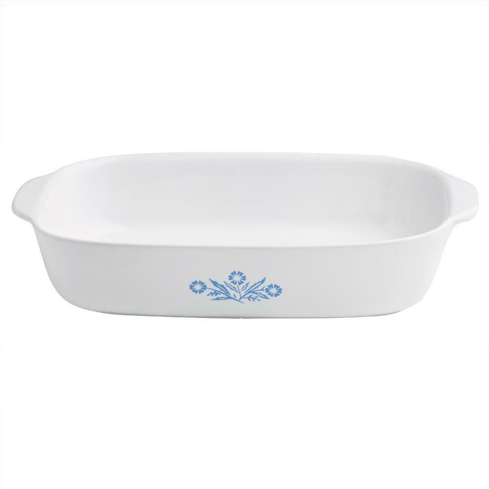 Corningware Cornflower 4-Piece Ceramic Bakeware and