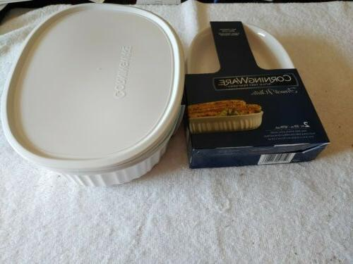 OVAL WHITE BAKEWARE CASSEROLE New