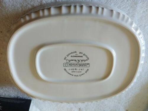 OVAL FRENCH WHITE BAKEWARE CASSEROLE New
