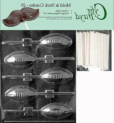 football lolly chocolate mold w instructions free