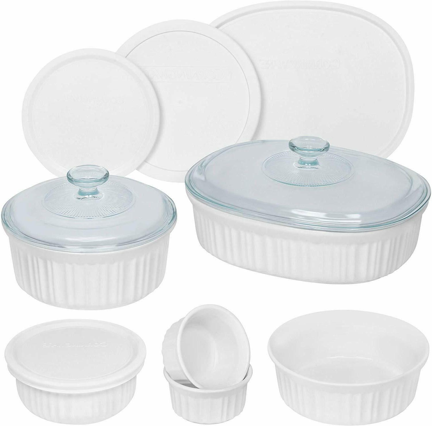 french white 12 piece round and oval