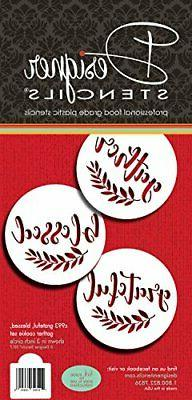 Grateful, Blessed And Gather Cookie Stencil C993 by Designer