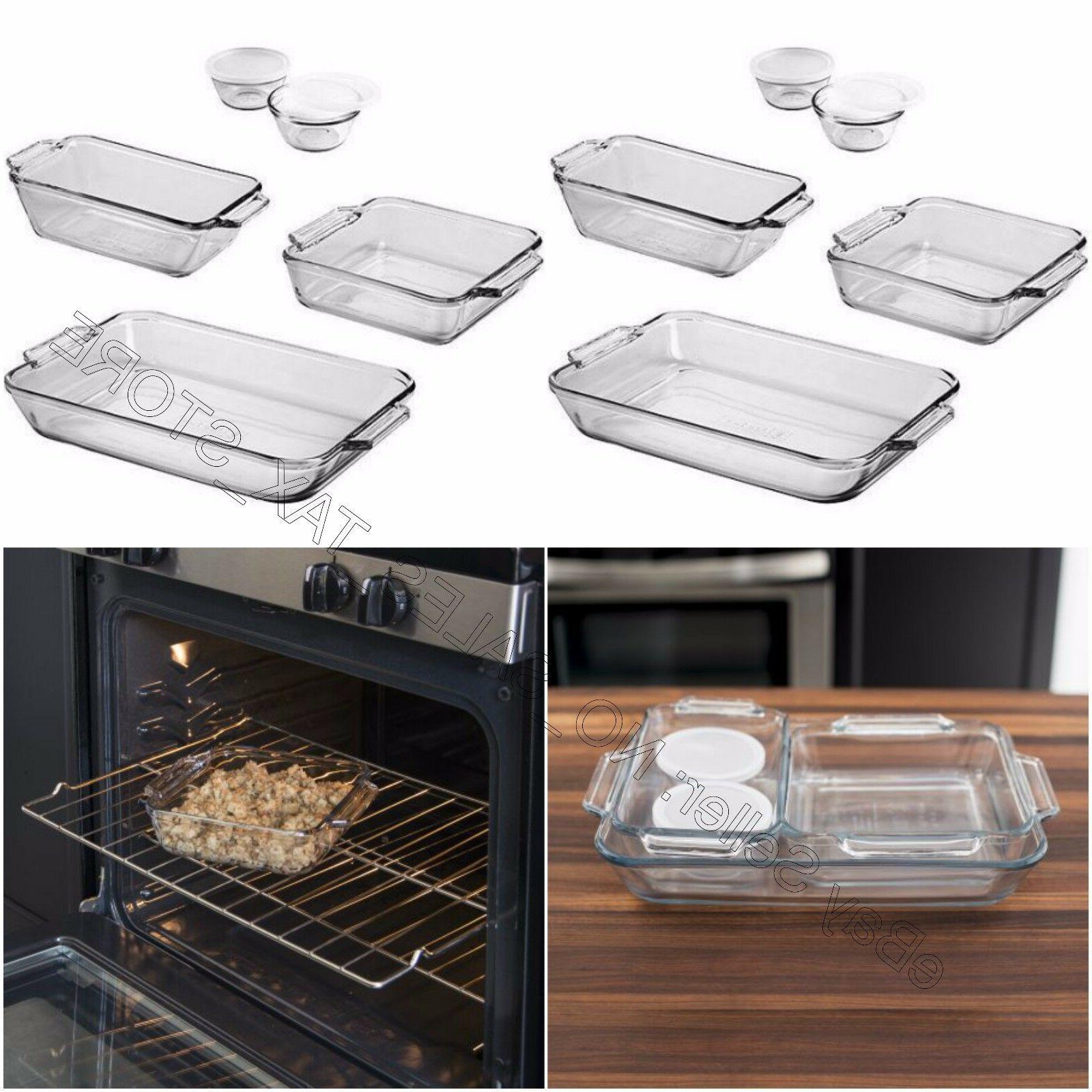 Anchor Hocking Kitchen Glass Baking Cake Loaf pan New
