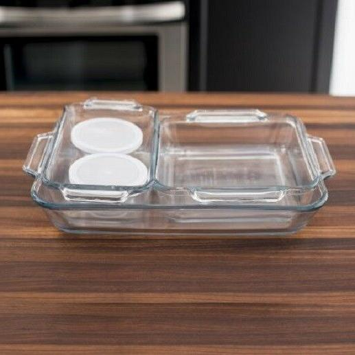 Anchor Kitchen Set 7 Glass Loaf pan New