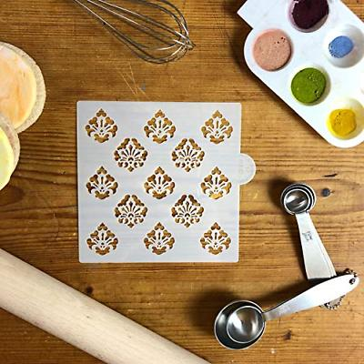 Mini Damask Allover Cookie and Craft Stencil by Stencils