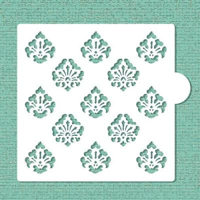 mini damask allover cookie and craft stencil