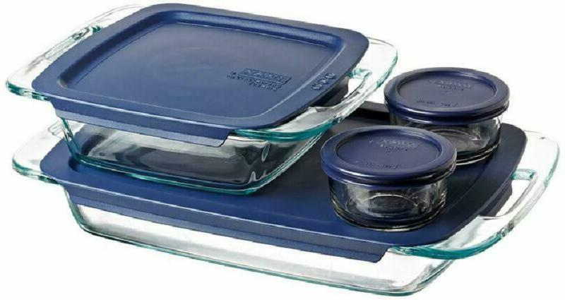 pyrex easy grab glass bakeware and food