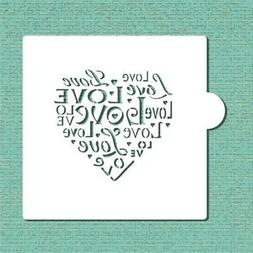 love saying cookie and craft stencil cm044