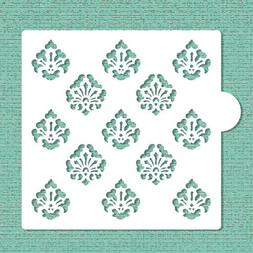 Mini Damask Allover Cookie and Craft Stencil CM008 by Design