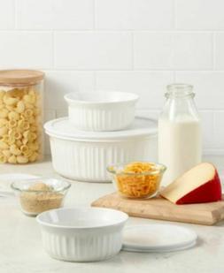 new french white 6 pc bakeware set