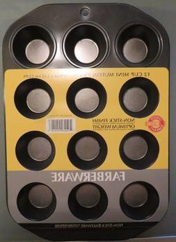 Farberware Nonstick Bakeware 12-Cup Muffin Pan Gray
