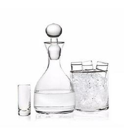 GODINGER PLATINUM Trimmed VODKA 6-PIECE Drink SET w/ 4 Shoot