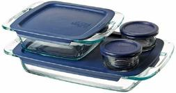 Pyrex Easy Grab Glass Bakeware and Food Storage Set, 8-Piece