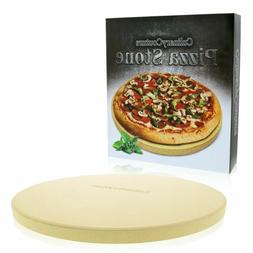Round Pizza Stone for Grill and Oven Thick Baking Stone Cook