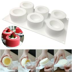 Silicone Cupcake Mousse Muffin Pan Pudding Pastry Bakeware C