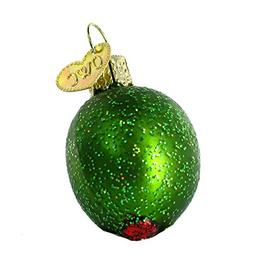 Old World Christmas Stuffed Green Olive Glass Blown Ornament