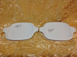 CORNINGWARE WHITE PLASTIC LID FOR PETITE PAN DISH ~ P-41-B P
