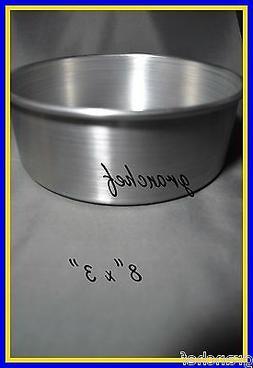 Winware 8-by-3-Inch Aluminum Layer Cake Pan